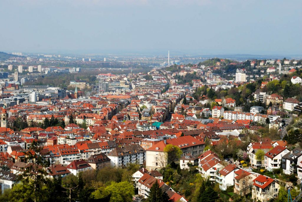 Panorama of Stuttgart, Germany