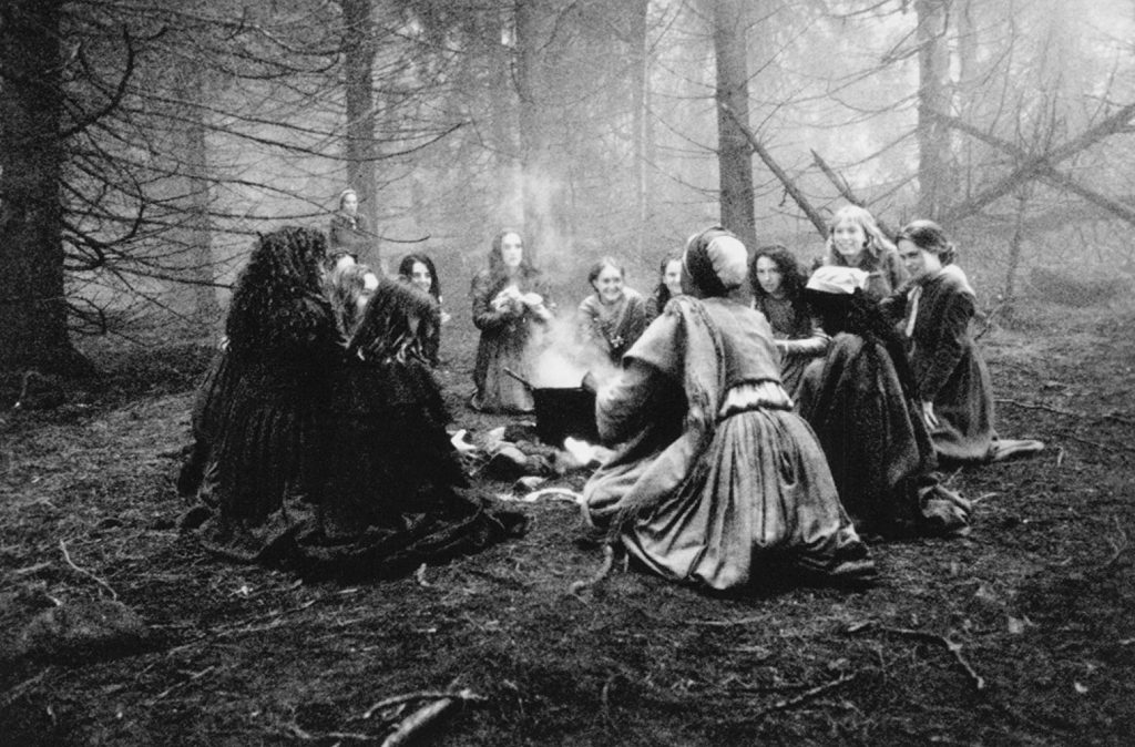 The Salem witches in one of their rituals