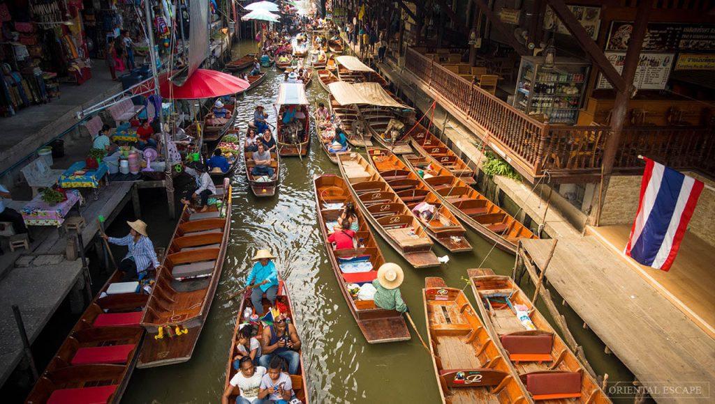 Damnoen Saduak, mercato galleggiante a Bangkok