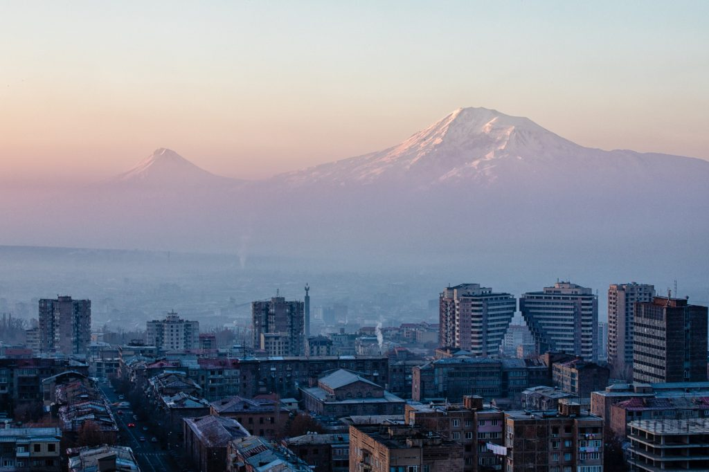 Yarevan City, Monte Ararat, Armenia