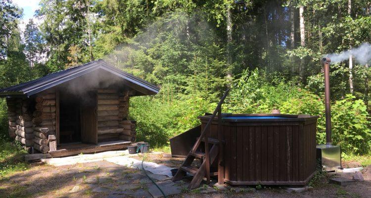 Tradizionale sauna finlandese