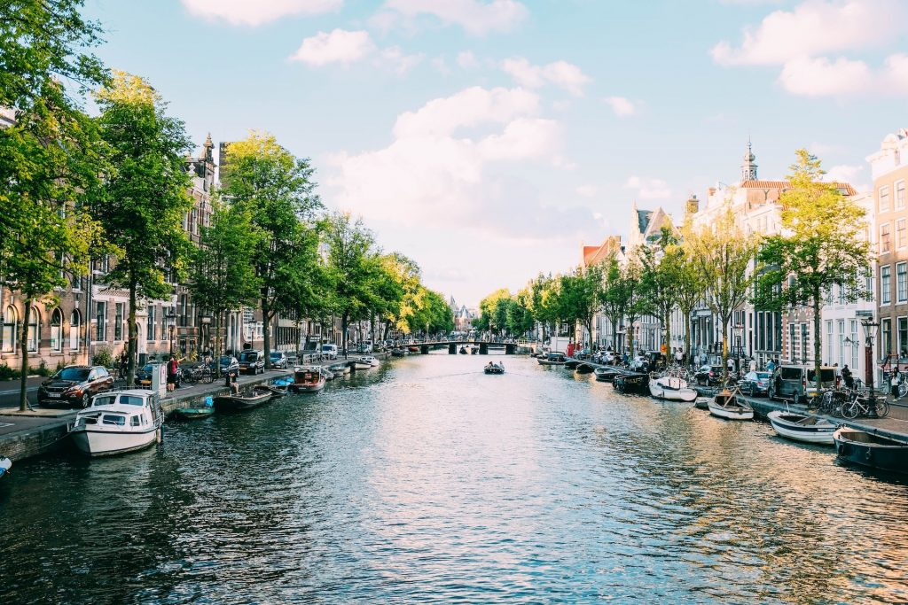 View of the canals of Amsterdam