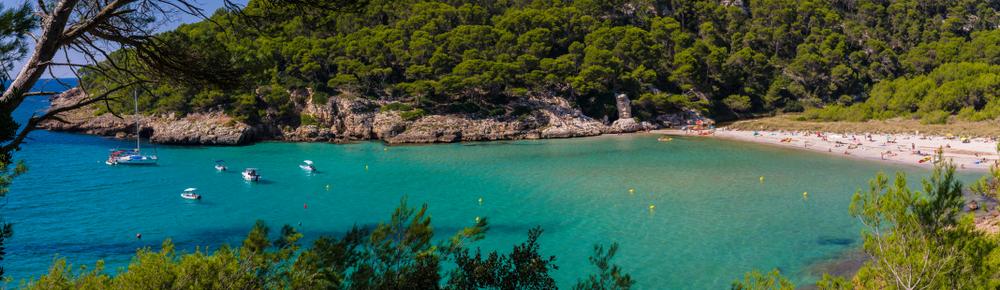 Una delle spiagge di Minorca