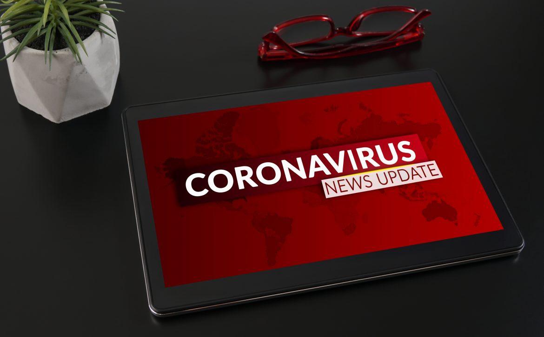 Coronavirus or Covid-19 pandemic News Update background concept.